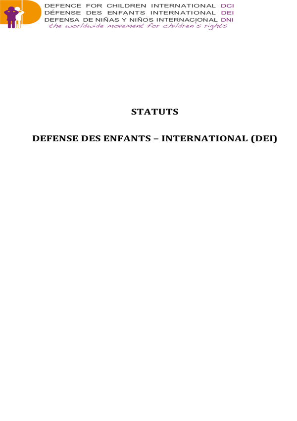 Statuts French