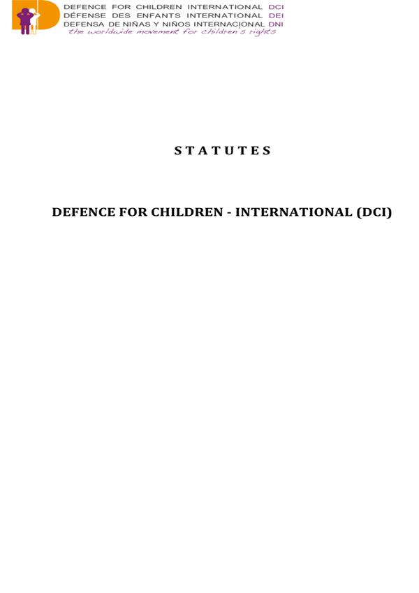 Statutes English